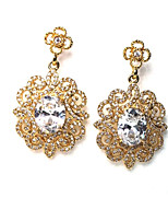cheap -Women's Drop Earrings Rhinestone Fashion Sweet Crystal Alloy Flower Jewelry Party Daily Costume Jewelry