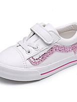 cheap -Girls' Shoes PU Spring Fall Comfort Sneakers for Casual White/Green Pink/White