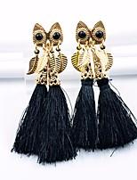 cheap -Women's Drop Earrings Tassel Vintage Alloy Owl Jewelry Party Daily