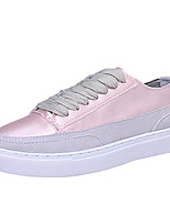 cheap -Women's Shoes PU Spring Fall Comfort Sneakers Flat Heel Round Toe for Casual Pink Green Purple White