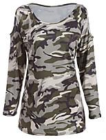 economico -T-shirt Da donna Quotidiano Casual Primavera Estate,Camouflage Rotonda Cotone Maniche corte