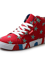 cheap -Men's Shoes PU Spring Fall Comfort Sneakers for Outdoor White Dark Blue Red