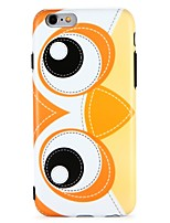 baratos -Capinha Para Apple iPhone 7 iPhone 6 IMD Estampada Capa Traseira Corujas Animal Desenho Animado Macia TPU para iPhone 7 Plus iPhone 7