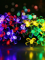 cheap -Waterproof 50 LEDs 6M String Light 1Set Mounting Bracket Multicolor Decorative Solar Powered