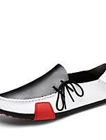 cheap -Men's Shoes Cowhide All Seazons Comfort Loafers & Slip-Ons for Casual Office & Career Black/White Brown Gray