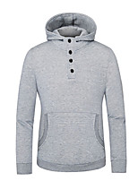 cheap -Men's Daily Solid Hooded Hoodie Regular, Long Sleeves Spring Fall Cotton
