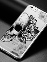cheap -Case For Apple iPhone X iPhone 8 iPhone 6 iPhone 6 Plus IMD Ultra-thin Transparent Pattern Back Cover Skull Soft TPU for iPhone X iPhone