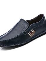 baratos -sapatos Pele Primavera Outono Mocassim Mocassins e Slip-Ons para Escritório e Carreira Branco Preto Azul Escuro Amarelo