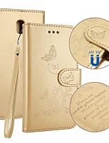 Недорогие -Кейс для Назначение SSamsung Galaxy J5 (2017) J3 (2017) Бумажник для карт Кошелек со стендом Флип Рельефный Чехол Бабочка Твердый