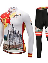 cheap -CYCOBYCO Cycling Jersey with Tights Men's Long Sleeves Bike Pants / Trousers Jersey Tights Clothing Suits Top Bike Wear Fast Dry Quick