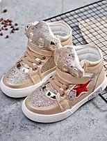 Недорогие -Девочки обувь Дерматин Весна Осень Удобная обувь Кеды для Повседневные Золотой Серебряный Розовый