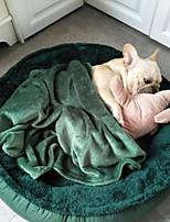 Недорогие -Собаки Коты Кровати Животные Коврики и подушки Однотонный Теплый Кофейный Зеленый Для домашних животных