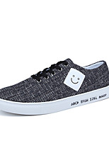cheap -Men's Shoes PU Fabric Spring Fall Comfort Sneakers for Casual Black Gray Blue
