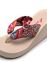 Недорогие -Для женщин Обувь Шёлк Весна Лето Гладиаторы Тапочки и Шлепанцы Микропоры для Повседневные Для праздника Синий Розовый
