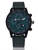 Недорогие -Муж. Модные часы Наручные часы Китайский Кварцевый Календарь Крупный циферблат Кожа Группа На каждый день минималист Черный Коричневый
