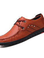 cheap -Men's Shoes PU Spring Fall Comfort Oxfords for Outdoor Brown Coffee Black