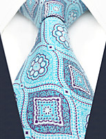 cheap -Silk Necktie, Vintage Work Casual All Seasons Blue