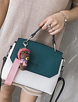 cheap -Women Bags PU Shoulder Bag Buttons for Casual All Season Dark Green Blushing Pink Orange