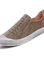 Недорогие -Муж. обувь Полиуретан Весна Осень Удобная обувь Кеды для Повседневные Черный Серый Хаки