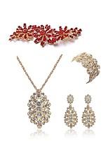 preiswerte -Damen Ketten- & Glieder-Armbänder Braut-Schmuck-Sets Strass Europäisch Modisch Hochzeit Party Künstliche Perle Diamantimitate Aleación