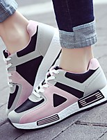 cheap -Women's Shoes Fabric Spring Fall Comfort Sneakers Wedge Heel for Casual Pink Black