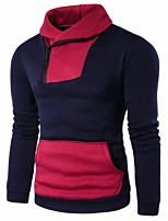 cheap -Men's Daily Casual Sweatshirt Color Block Round Neck Micro-elastic Polyester Long Sleeve Winter Autumn/Fall