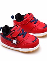 cheap -Boys' Girls' Shoes PU Spring Fall Comfort First Walkers Sneakers for Casual Pink Blue Red