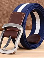 cheap -Men's Others Alloy Waist Belt,Black Beige Light Brown Army Green Royal Blue Casual