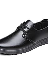 Недорогие -Муж. обувь Полиуретан Весна Осень Формальная обувь Удобная обувь Мокасины и Свитер для Повседневные Офис и карьера Черный Коричневый