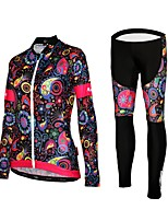 cheap -Cycling Jersey with Tights Women's Long Sleeves Bike Tights Jersey Bottoms Bike Wear Trainer Reflective Strip Fast Dry Quick Dry UV