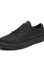 cheap -Men's Shoes Nubuck leather Spring Fall Comfort Sneakers for Casual Black Gray Khaki