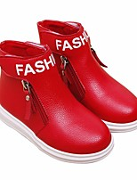 cheap -Girls' Shoes PU Spring Fall Comfort Fashion Boots Boots Booties/Ankle Boots for Casual Pink Red Black White