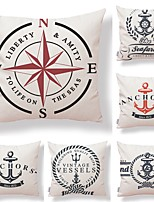 cheap -6 pcs Textile Cotton/Linen Pillow Cover, Geometric Art Deco Contemporary