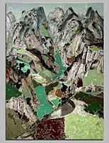 abordables -Peint à la main Abstrait Format Vertical, Contemporain Toile Peinture à l'huile Hang-peint Décoration d'intérieur Un Panneau