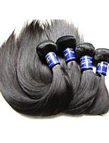 cheap -4bundles 400g lot 10a peruvian straight virgin human hair bundles weaves natural black color silk smooth texture no shedding no tangles
