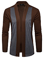 cheap -Men's Cardigan - Solid Turtleneck