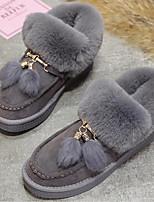 Недорогие -Для женщин Обувь Нубук Зима Осень Удобная обувь Зимние сапоги Ботинки На плоской подошве Ботинки для Повседневные Черный Серый Коричневый