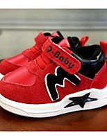cheap -Girls' Shoes Cowhide Spring Fall Comfort First Walkers Sneakers for Casual Red Black