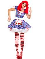 abordables -Burlesques Payaso Circo Una Sola Pieza Vestidos Disfrace de Cosplay Ropa de Fiesta Mujer Carnaval Festival / Celebración Disfraces de