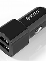 cheap -ORICO UCL-2U  USB Car Charger 2 Port 5V2.4 5V1A MAX 17W Mini Travel Charger USB Car Charger