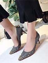 Недорогие -Жен. Обувь Полиуретан Весна Осень Удобная обувь Обувь на каблуках На шпильке для Повседневные Золотой Серебряный