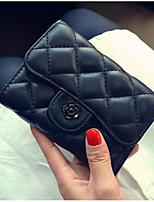 cheap -Women's Bags PU Wallet Buttons for Casual All Season Blue Black Red Blushing Pink