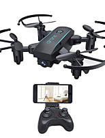 economico -RC Drone HY16010黑色 4 Canali 6 Asse 2.4G Con la macchina fotografica 0.3MP HD Quadricottero Rc WIFI FPV Illuminazione LED Tasto Unico Di