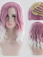 cheap -Ombre Color Curly Women Wigs Natural Daily Wearing or Cosplay Heat Resistant Wavy Hair Wig