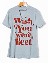 cheap -Women's Classic & Timeless T-shirt-Letter,Classic Style