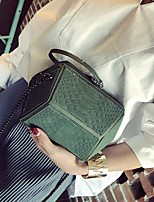 cheap -Women Bags PU Shoulder Bag Zipper for Outdoor All Season Black Green