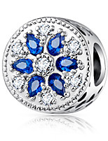 cheap -DIY Jewelry 1 pcs Beads Purple Yellow Fuchsia Pearl Pink Blue Round Zircon Alloy Bead 0.45 cm DIY Bracelet Necklace