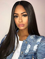 cheap -New Peruvian 13X6 Lace Front Human Hair Wigs Natural Hairline 100% Human Hair 150% Density Glueless Lace Front Wigs with Baby Hair Natural Color
