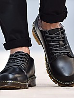 cheap -Men's Shoes Cowhide Spring Fall Combat Boots Boots Booties/Ankle Boots for Casual Brown Gray Black