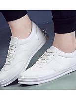 Недорогие -Для мужчин обувь Полиуретан Весна Осень Удобная обувь Кеды для Повседневные Белый Черный
